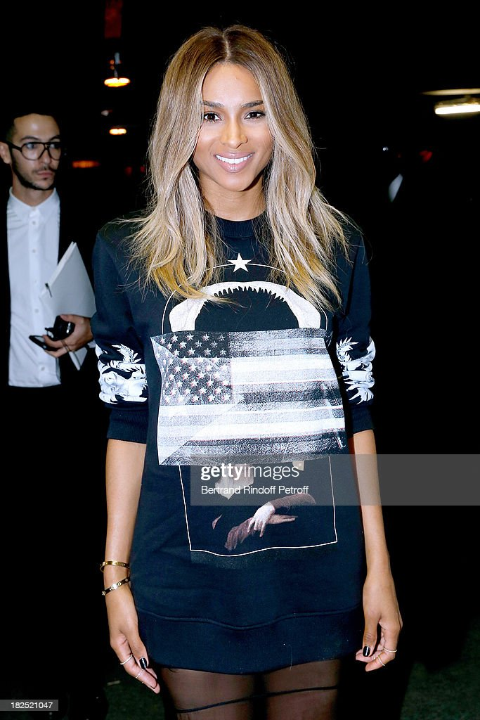 Singer Ciara arriving at Givenchy show as part of the Paris Fashion Week Womenswear Spring/Summer 2014, held at 'la Halle Freyssinet' on September 29, 2013 in Paris, France.