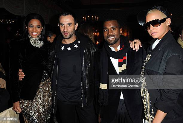 Singer Ciara Artistic Director of Givenchy Riccardo Tisci Singer Kanye West and singer Amber Rose attend the Givenchy Private cocktail party in his...