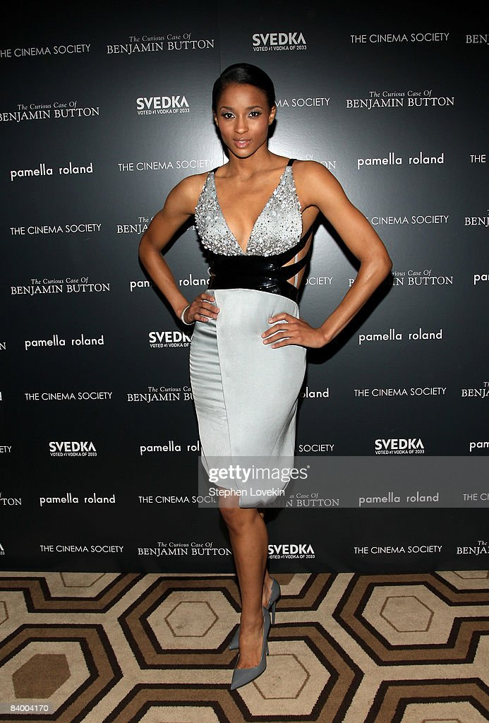 Singer Ciara attends a screening of 'The Curious Case of Benjamin Button' presented by The Cinema Society, Pamella Roland & Svedka at the Tribeca Grand Screening Room on December 11, 2008 in New York City.