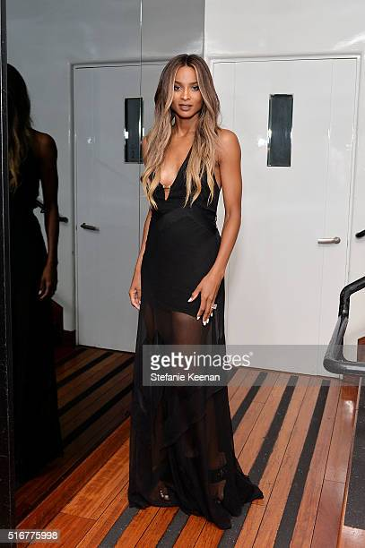Singer Ciara attends Daily Front Row Fashion Los Angeles Awards Private Dinner Hosted By Eva Chow And Carine Roitfeld at Mr Chow on March 20 2016 in...