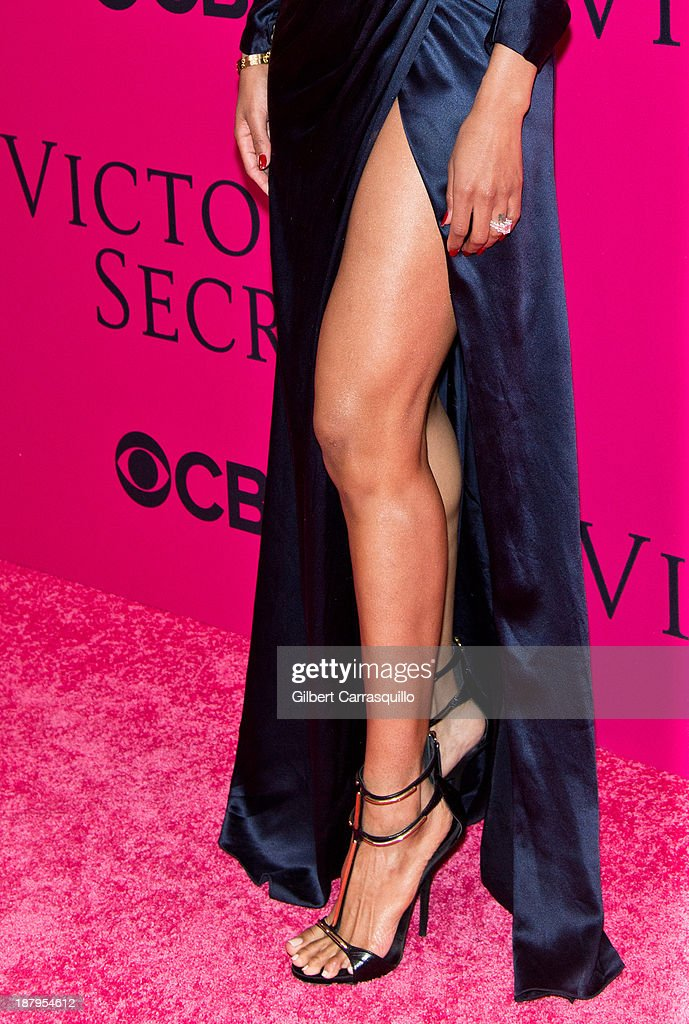 Singer Ciara (shoe detail) attends the 2013 Victoria's Secret Fashion Show at Lexington Avenue Armory on November 13, 2013 in New York City.