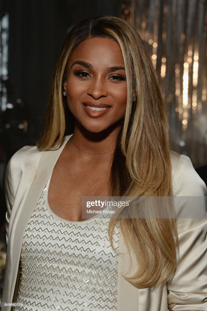 Singer Ciara attends the 25th Annual Elton John AIDS Foundation's Academy Awards Viewing Party at The City of West Hollywood Park on February 26, 2017 in West Hollywood, California.