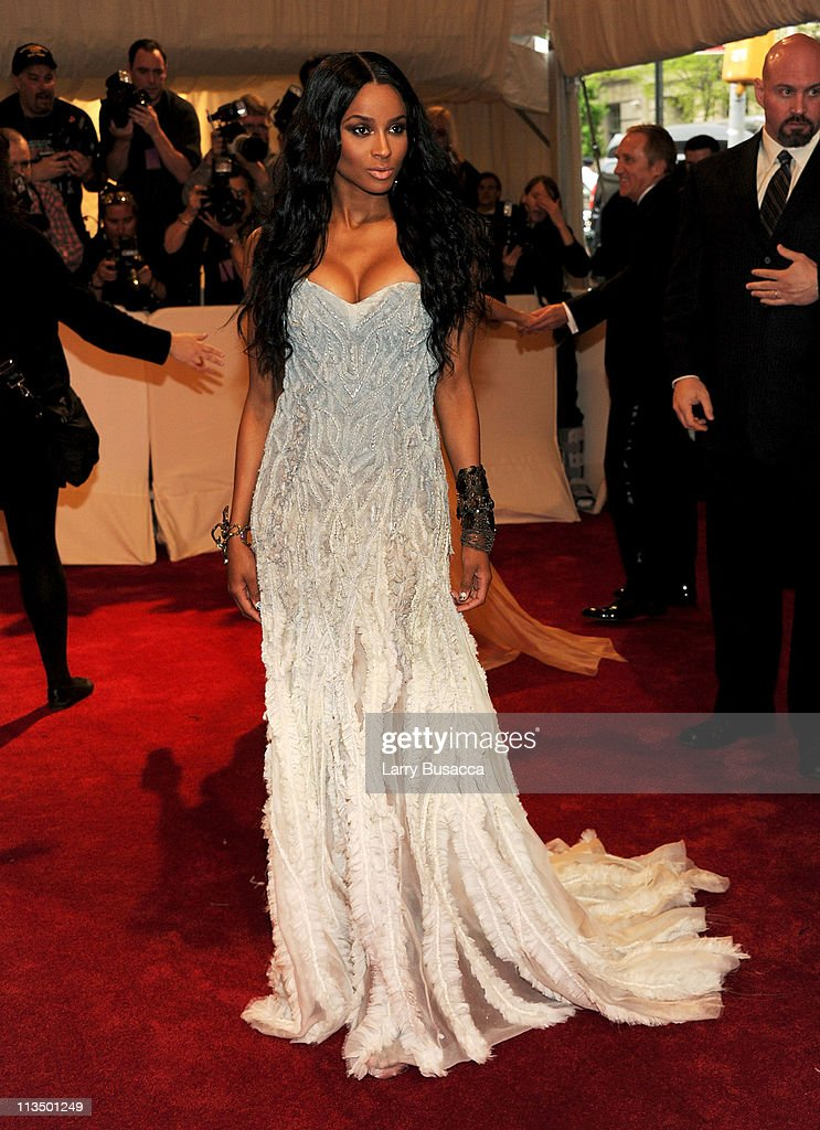 Singer Ciara attends the 'Alexander McQueen: Savage Beauty' Costume Institute Gala at The Metropolitan Museum of Art on May 2, 2011 in New York City.