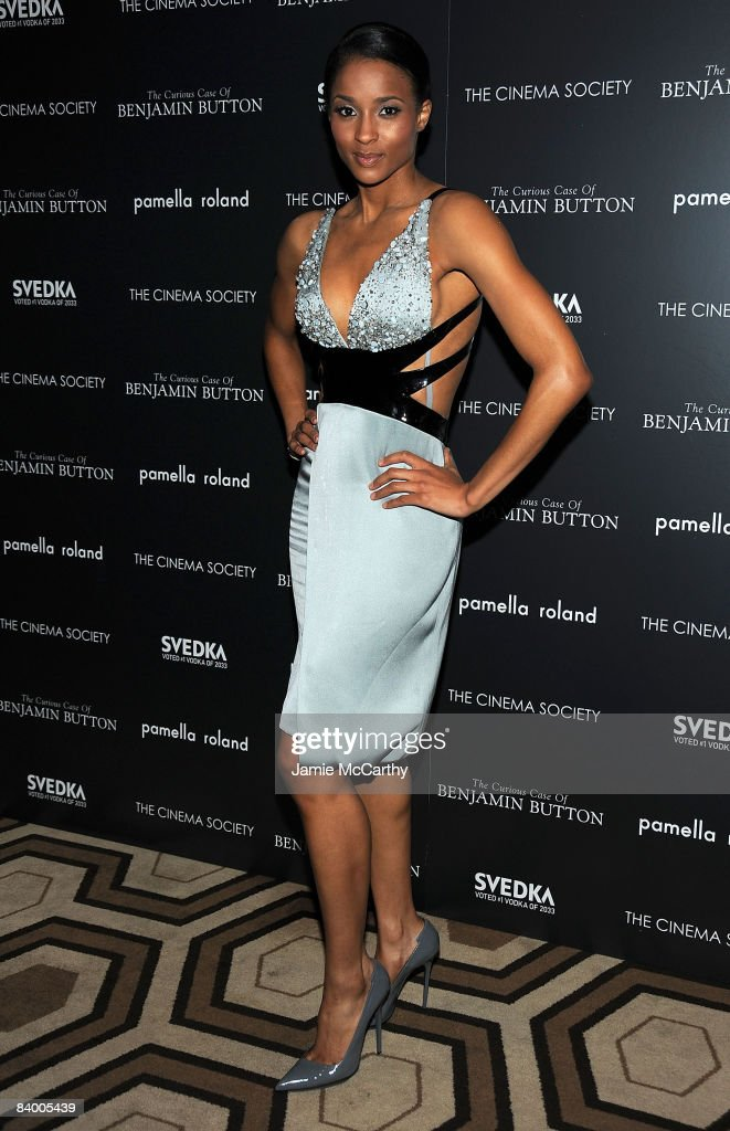 Singer Ciara attends the Cinema Society Pamella Roland and Svedka screening of 'The Curious Case of Benjamin Button' at the Tribeca Grand Screening...