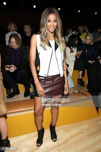 Singer Ciara attends the Coach Fall 2016 Runway Show on February 16 2016 in New York City
