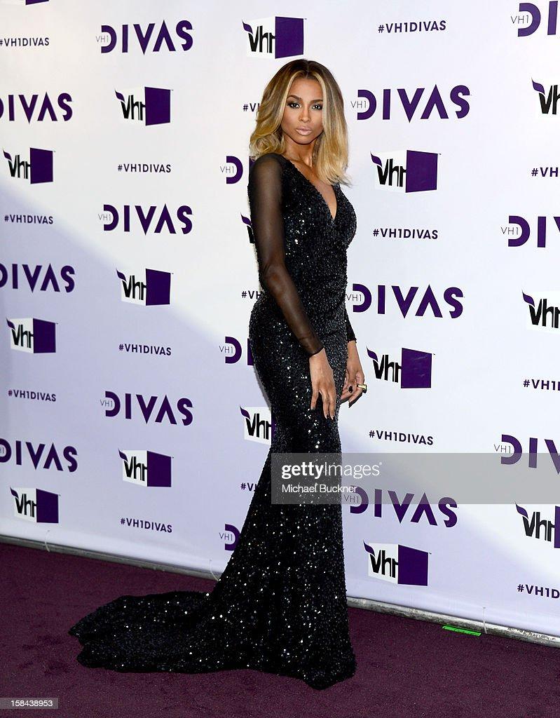 Singer Ciara attends 'VH1 Divas' 2012 at The Shrine Auditorium on December 16, 2012 in Los Angeles, California.