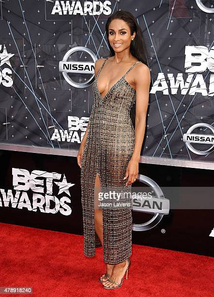 Singer Ciara Harris attends the 2015 BET Awards at the Microsoft Theater on June 28 2015 in Los Angeles California