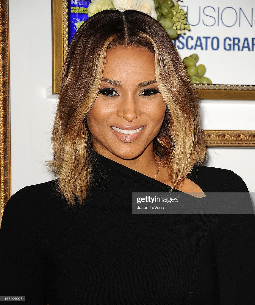 Singer <a gi-track='captionPersonalityLinkClicked' href=/galleries/search?phrase=Ciara+-+Cantora&family=editorial&specificpeople=11647122 ng-click='$event.stopPropagation()'>Ciara</a> Harris attends the House Of Moscato launch party at Greystone Manor Supperclub on April 24, 2013 in West Hollywood, California.