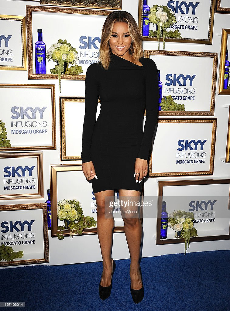 Singer <a gi-track='captionPersonalityLinkClicked' href=/galleries/search?phrase=Ciara+-+S%C3%A4ngerin&family=editorial&specificpeople=11647122 ng-click='$event.stopPropagation()'>Ciara</a> Harris attends the House Of Moscato launch party at Greystone Manor Supperclub on April 24, 2013 in West Hollywood, California.