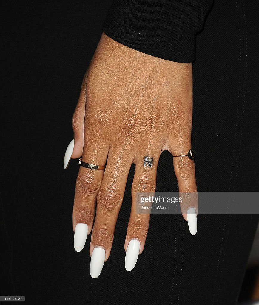 Singer Ciara Harris (jewelry and nail detail) attends the House Of Moscato launch party at Greystone Manor Supperclub on April 24, 2013 in West Hollywood, California.