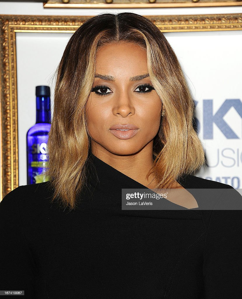 Singer <a gi-track='captionPersonalityLinkClicked' href=/galleries/search?phrase=Ciara+-+Cantante&family=editorial&specificpeople=11647122 ng-click='$event.stopPropagation()'>Ciara</a> Harris attends the House Of Moscato launch party at Greystone Manor Supperclub on April 24, 2013 in West Hollywood, California.