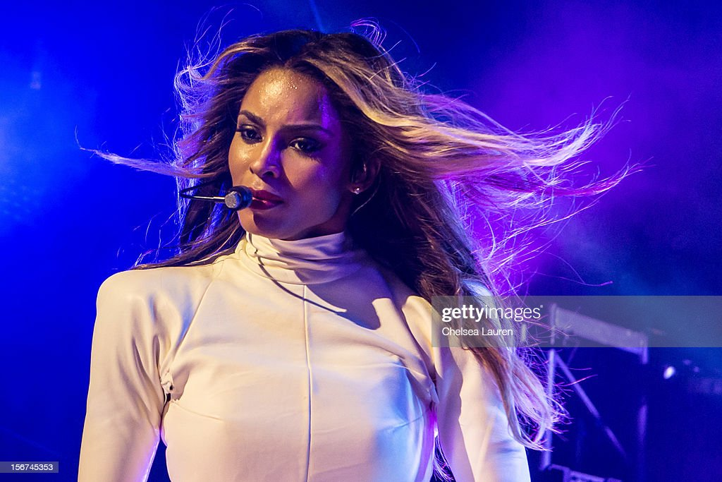 Singer <a gi-track='captionPersonalityLinkClicked' href=/galleries/search?phrase=Ciara+-+Zangeres&family=editorial&specificpeople=11647122 ng-click='$event.stopPropagation()'>Ciara</a> performs at Myspace LIVE series at Key Club on November 19, 2012 in West Hollywood, California.