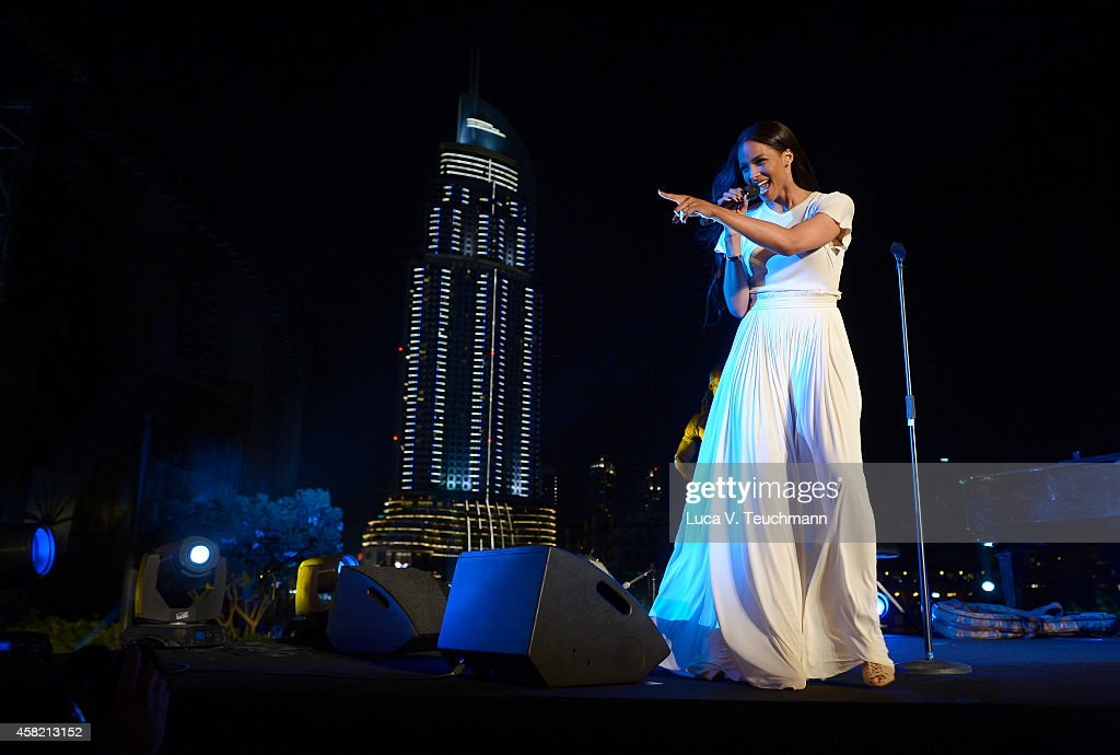 Singer Ciara performs at the Gala Event during the Vogue Fashion Dubai Experience on October 31, 2014 in Dubai, United Arab Emirates.