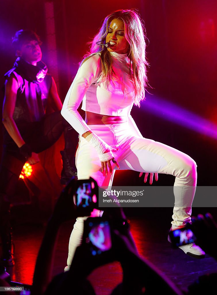 Singer Ciara performs onstage during a 'Myspace LIVE' concert at Key Club on November 19, 2012 in West Hollywood, California.