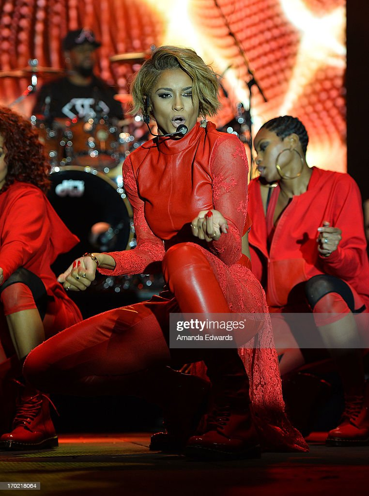 Singer Ciara performs onstage on Day 1 of the 2013 LA Gay Pride Festival on June 8 2013 in West Hollywood California