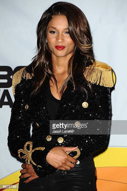 Singer Ciara poses for photos in the press room at the 2009 BET Awards at The Shrine Auditorium on June 28 2009 in Los Angeles California