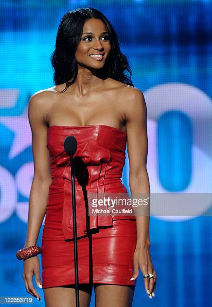 Singer Ciara speaks onstage during the 2010 BET Awards held at the Shrine Auditorium on June 27 2010 in Los Angeles California