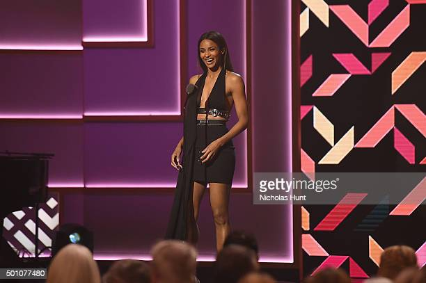 Singer Ciara speaks onstage during the Billboard Women in Music Luncheon on December 11 2015 in New York City