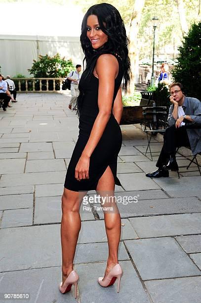 Singer Ciara walks through Bryant Park on September 14 2009 in New York City