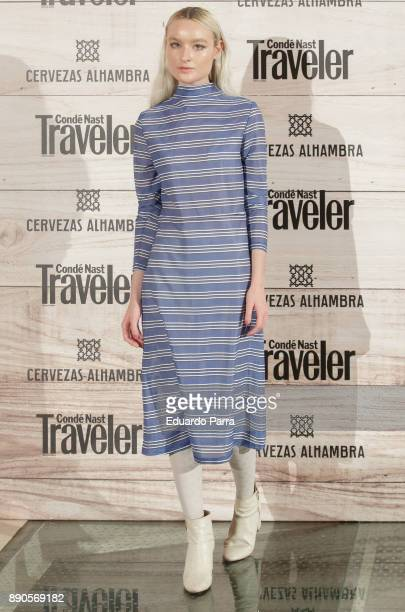 Singer Cintia Lund attends the 'Conde Nast Traveler Gastronomic and Wine Guide' photocall at Florida Retiro on December 11 2017 in Madrid Spain