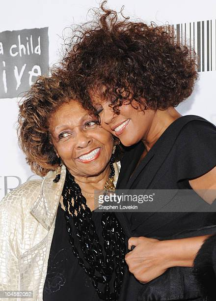 Singer Cissy Houston and daughter singer Whitney Houston attend the 2010 Keep A Child Alive's Black Ball at the Hammerstein Ballroom on September 30...