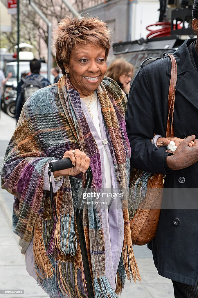 Singer <a gi-track='captionPersonalityLinkClicked' href=/galleries/search?phrase=Cissy+Houston&family=editorial&specificpeople=1019962 ng-click='$event.stopPropagation()'>Cissy Houston</a> leaves the 'Good Day New York' taping at the Fox 5 Studios on April 18, 2013 in New York City.
