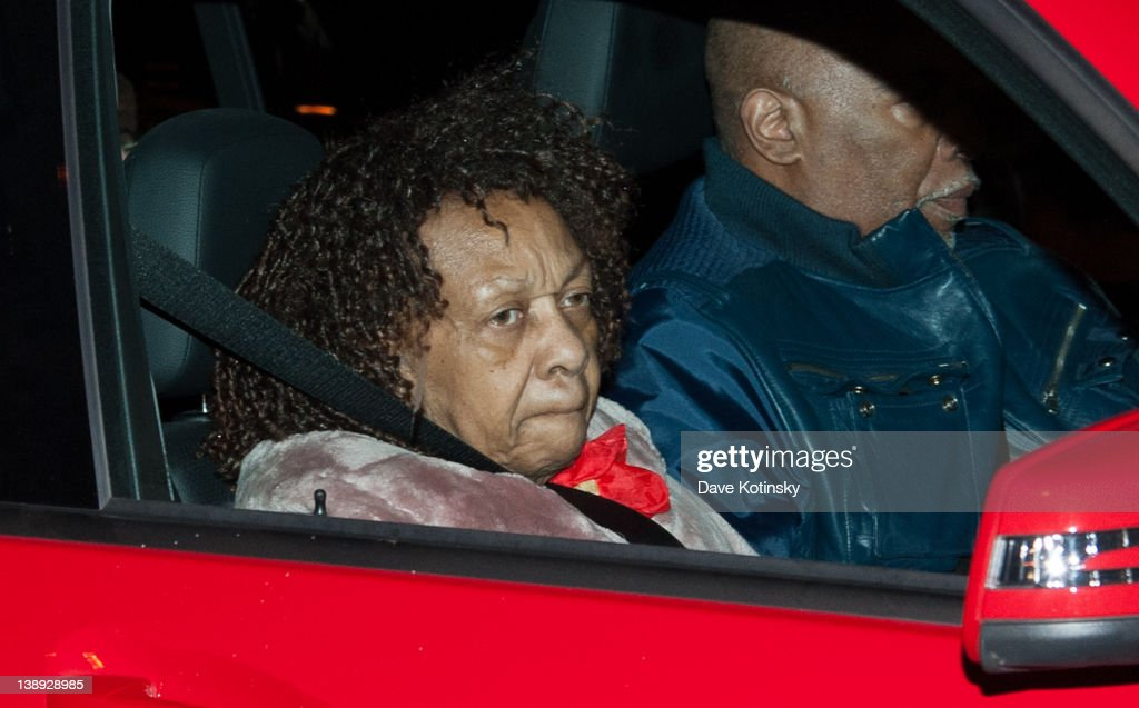 Singer <a gi-track='captionPersonalityLinkClicked' href=/galleries/search?phrase=Cissy+Houston&family=editorial&specificpeople=1019962 ng-click='$event.stopPropagation()'>Cissy Houston</a>, Mother of Whitney Houston, arrives as Whitney Houston's Body Arrives In New Jersey Ahead Of Her Funeral at Whigham Funeral Home on February 13, 2012 in Newark, New Jersey.
