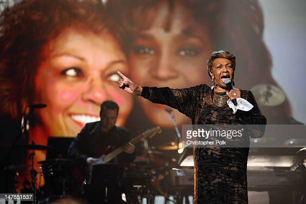 Singer Cissy Houston performs onstage during the 2012 BET Awards at The Shrine Auditorium on July 1 2012 in Los Angeles California