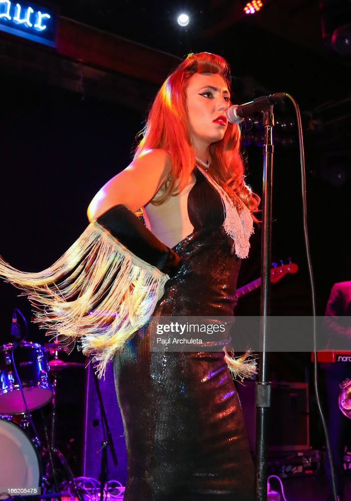 Singer Clairy Browne of the Clairy Browne & The Bangin' Rackettes performs in concert at the Troubadour on April 9, 2013 in West Hollywood, California.