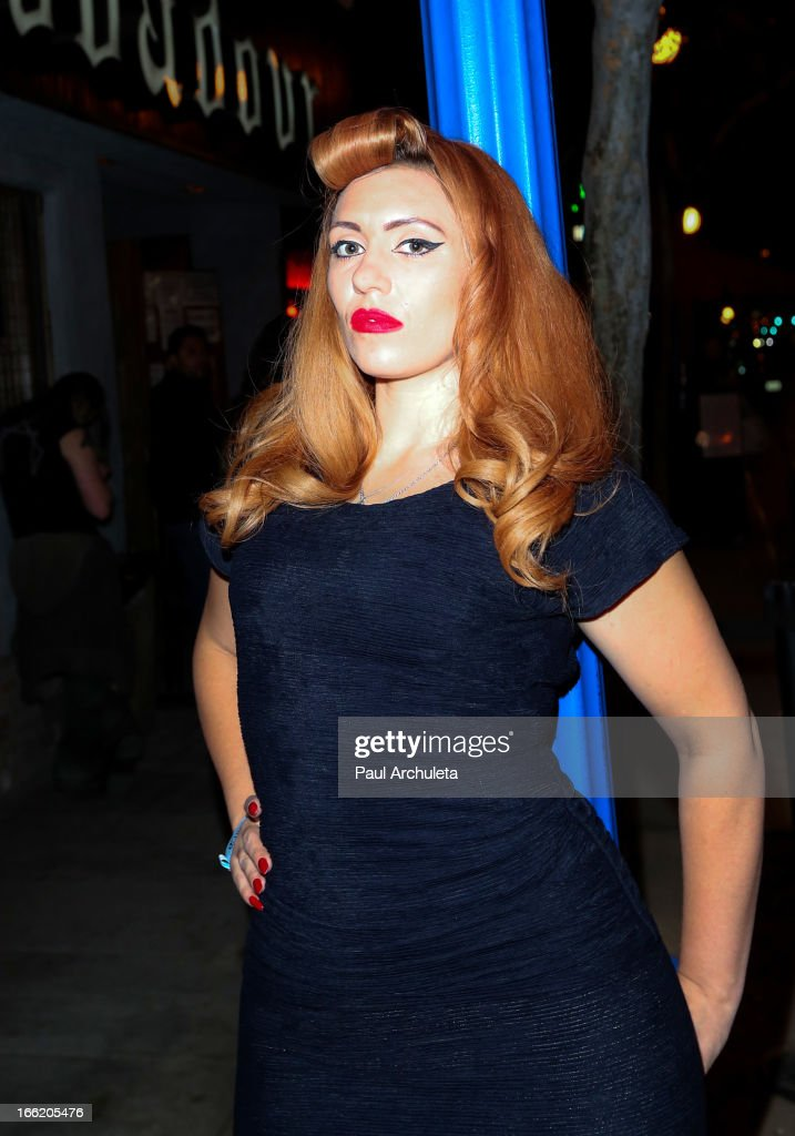 Singer Clairy Browne of the Clairy Browne & The Bangin' Rackettes poses before she performs in concert at the Troubadour on April 9, 2013 in West Hollywood, California.