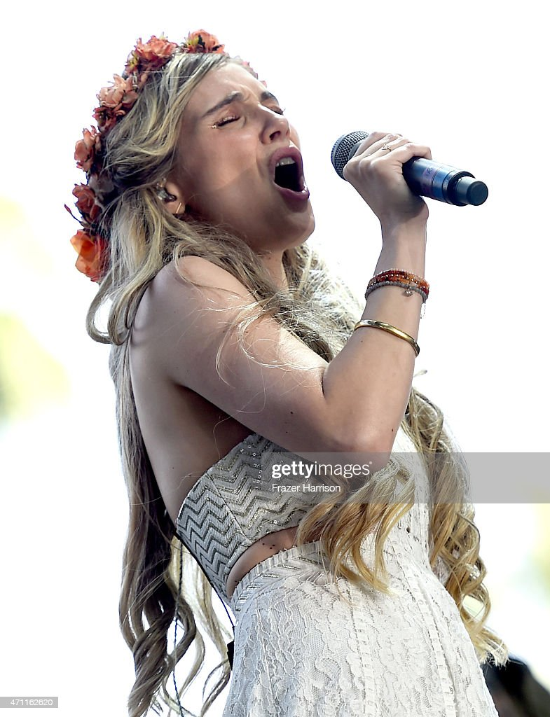 Singer Clare Bowen performs onstage during day two of 2015 Stagecoach California's Country Music Festival at The Empire Polo Club on April 25 2015 in...