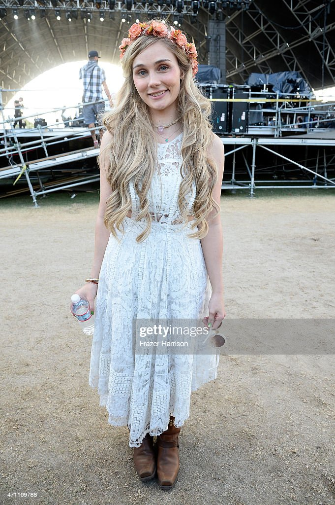 Singer Clare Bowen poses backstage during day two of 2015 Stagecoach California's Country Music Festival at The Empire Polo Club on April 25 2015 in...