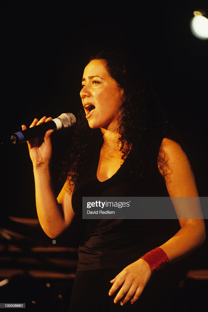 Singer Claudia Acuna performs on stage at the Monterey Jazz Festival held in Monterey, California in September 2000.