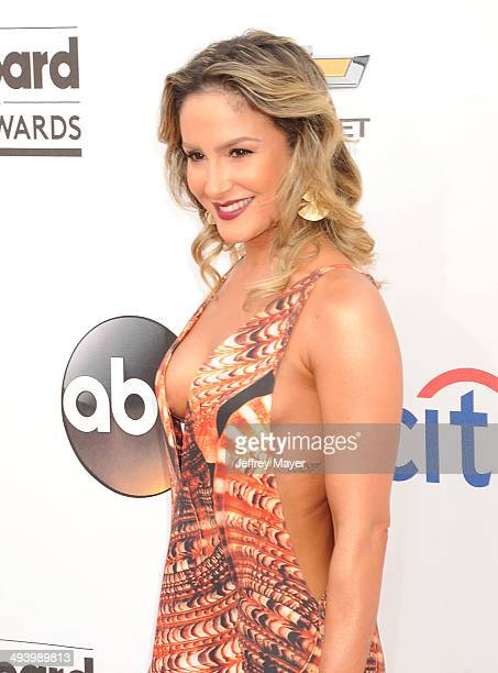 Singer Claudia Leitte arrives at the 2014 Billboard Music Awards at the MGM Grand Garden Arena on May 18 2014 in Las Vegas Nevada