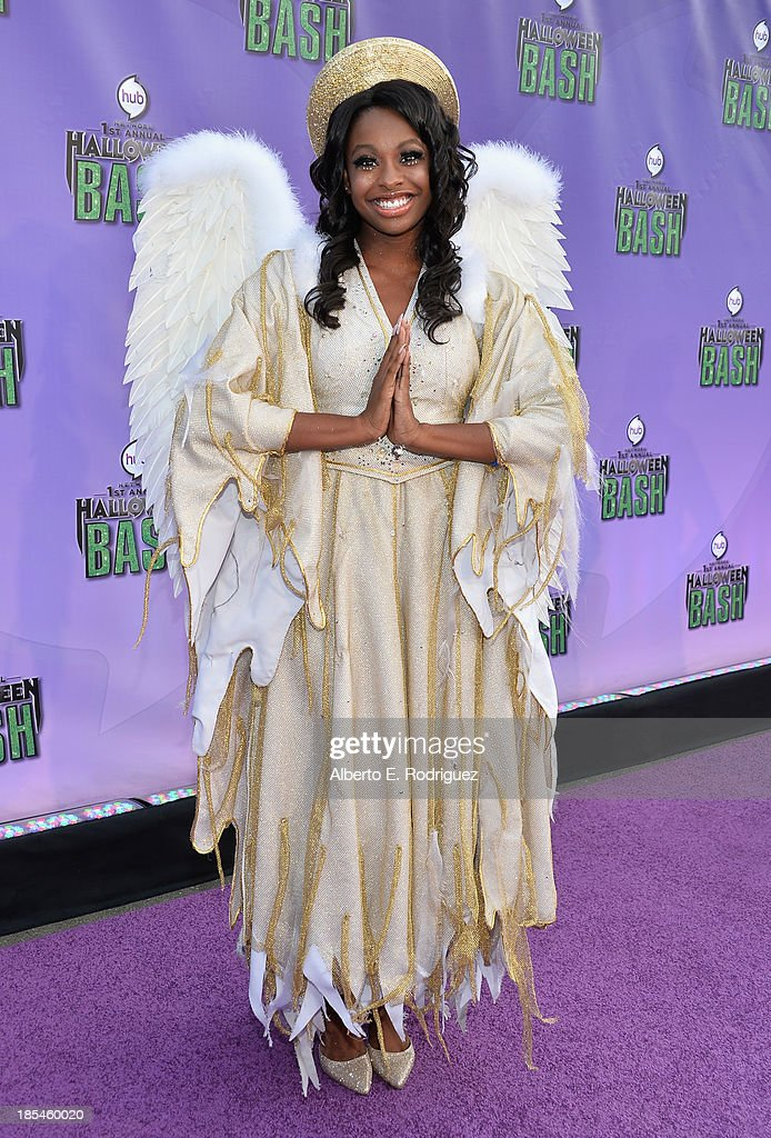 Singer Coco Jones attends the Hub Network's 1st Annual Halloween Bash at Barker Hangar on October 20, 2013 in Santa Monica, California.