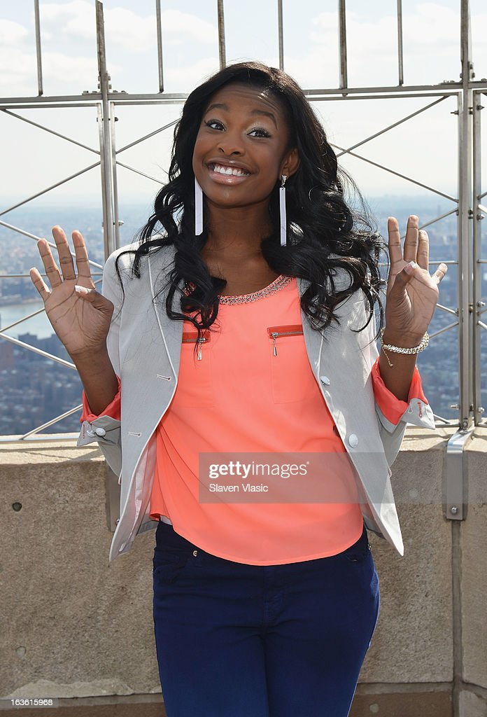 Singer Coco Jones visits 86th floor at The Empire State Building on March 13, 2013 in New York City.