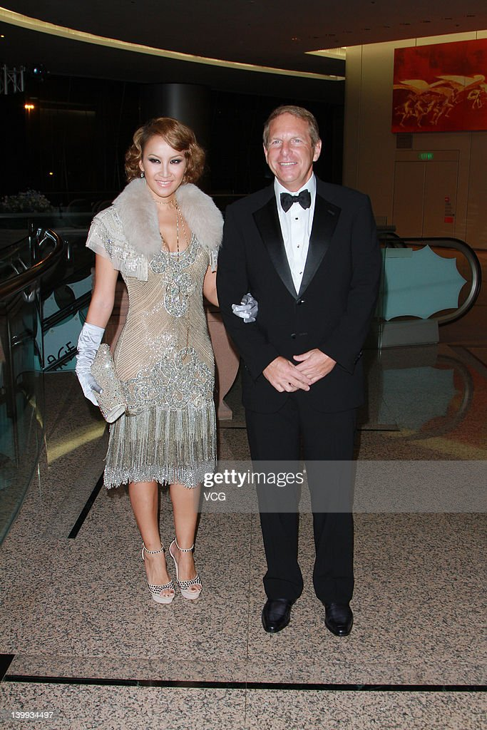 Singer Coco Lee and her husband Bruce Rockowitz attend Hong Kong Cancer Fund charity dinner on February 25, 2012 in Hong Kong, Hong Kong.