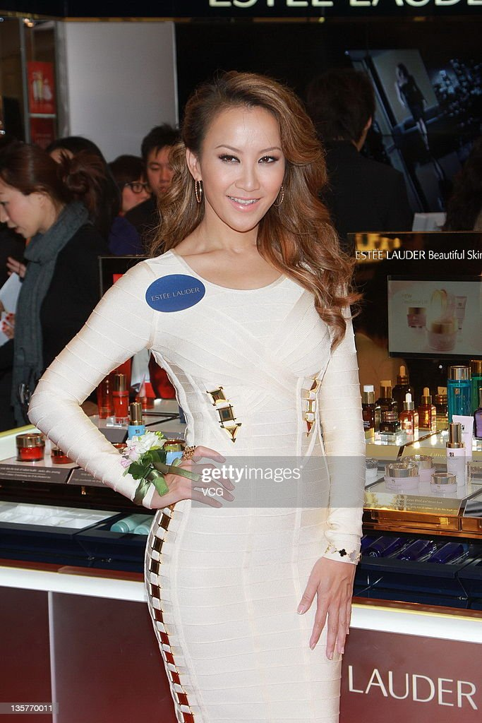 Singer Coco Lee attends Estee Lauder counter opening ceremony at Harbor City on December 13, 2011 in Hong Kong, Hong Kong.
