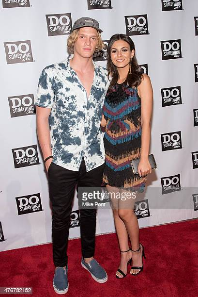 Singer Cody Simpson and actress Victoria Justice attend the Dosomethingorg Spring Dinner at Capitale on June 11 2015 in New York City
