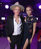 Singer Cody Simpson and Model Gigi Hadid attend the 23rd Annual Elton John AIDS Foundation Academy Awards Viewing Party on February 22 2015 in Los...