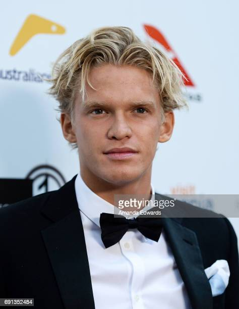 Singer Cody Simpson arrives at The 9th Annual Australians In Film Heath Ledger Scholarship Dinner at the Sunset Marquis Hotel on June 1 2017 in West...