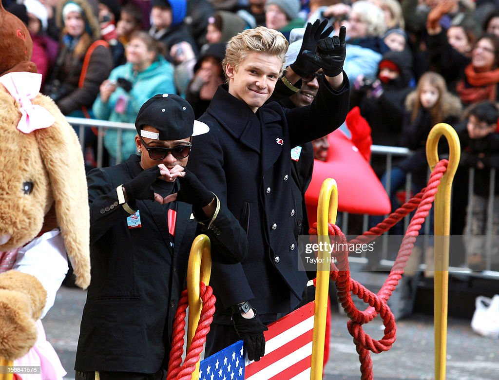 Singer <a gi-track='captionPersonalityLinkClicked' href=/galleries/search?phrase=Cody+Simpson&family=editorial&specificpeople=7068455 ng-click='$event.stopPropagation()'>Cody Simpson</a> attends 86th Annual Macy's Thanksgiving Day Parade on November 22, 2012 in New York City.