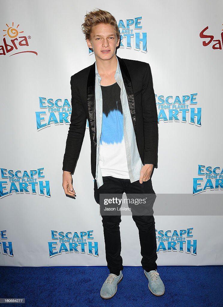 Singer Cody Simpson attends the premiere of 'Escape From Planet Earth' at Mann Chinese 6 on February 2, 2013 in Los Angeles, California.