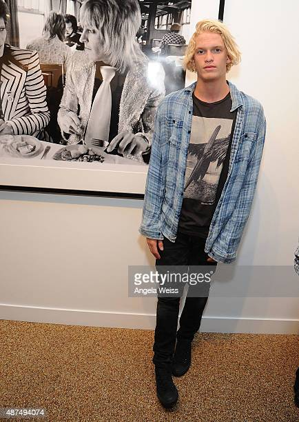 Singer Cody Simpson attends the TASCHEN Gallery opening reception for 'Mick Rock Shooting For Stardust The Rise Of David Bowie Co' at TASCHEN Gallery...