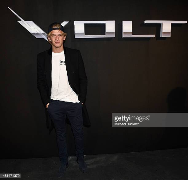 Singer Cody Simpson attends West Coast Reveal Of The New 2016 Next Generation Chevrolet Volt at Quixote Studios on January 12 2015 in Los Angeles...