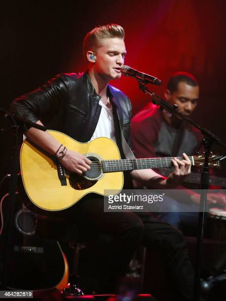 Singer Cody Simpson performs an acoustic concert at Highline Ballroom on January 21 2014 in New York City
