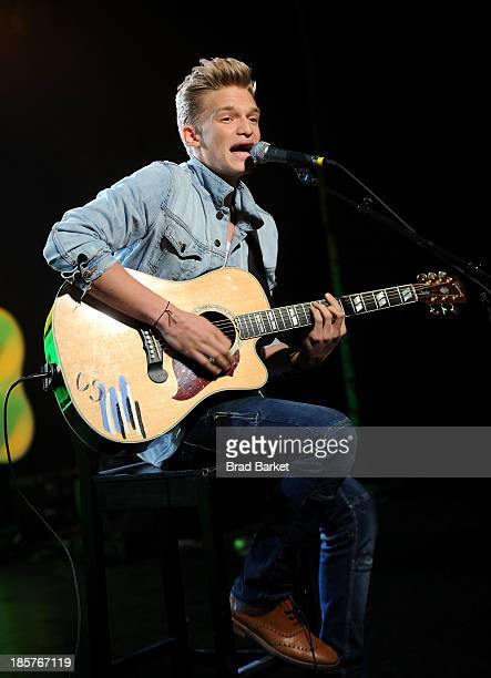 Singer Cody Simpson performs at iHeartRadio's Nick Radio launch party on October 24 2013 in New York City