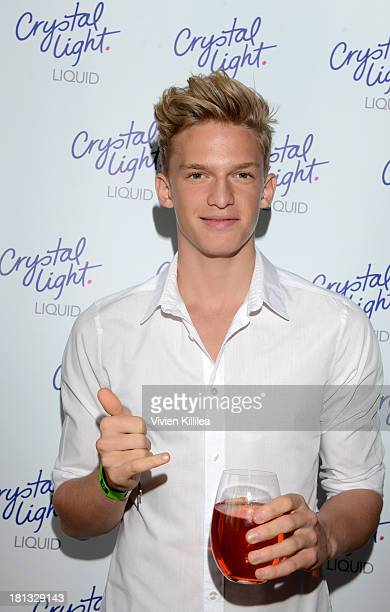 Singer Cody Simpson stops by Crystal Light Liquid as they toast the Emmys at Kari Feinstein's PreEmmy Style Lounge at the Andaz Hotel on September 20...