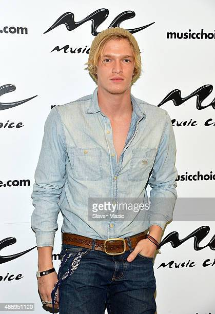 Singer Cody Simpson visits Music Choice on April 8 2015 in New York City