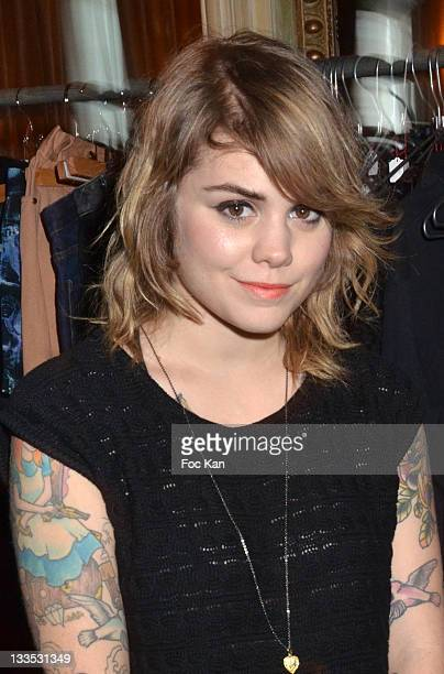 Singer Coeur de Pirate attends 'My Beautiful Dressing' Auction Party in Benefit of 'Vision du Monde' Children Care Association at Le Carmen on...